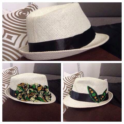 Customisation d'un chapeau avec tissu wax #JeSuisunBijiou