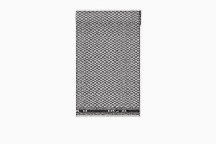 undefined Cliquez ici pour agrandir l'image du produit Étole lin et cachemire gris 110 x 200 cm