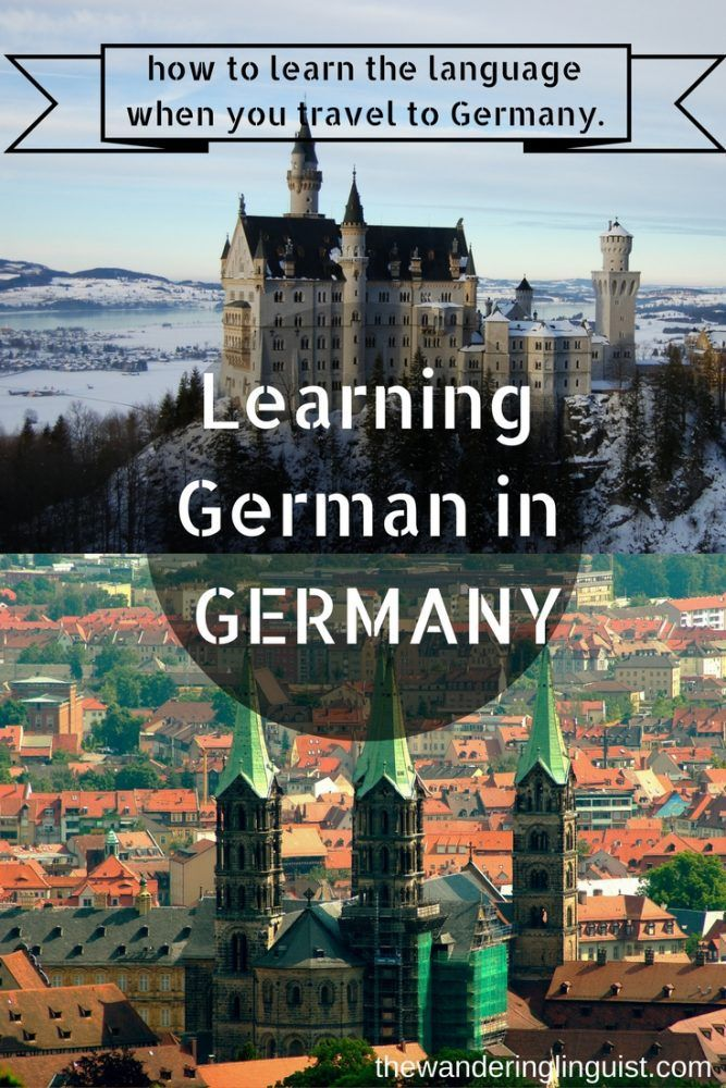 How to learn German in Germany
