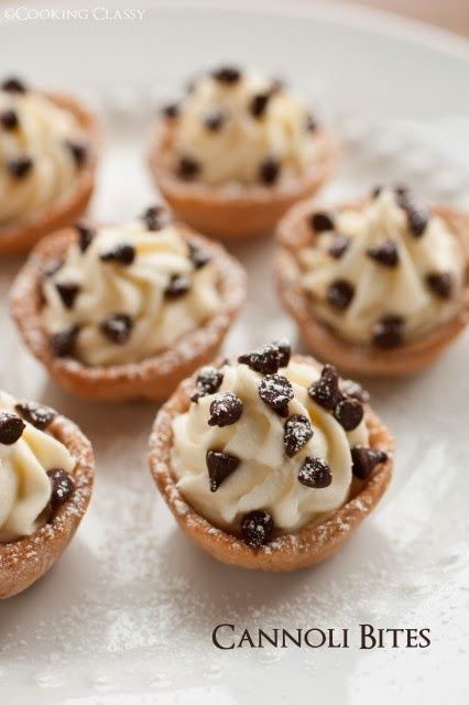 Cannoli Bites.  Evelyn-Marie Reed must try these!  I love cannolis ;9