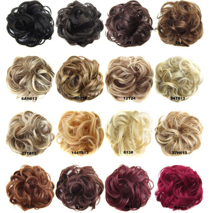 DELICE שיער נשים גל מתולתל סינטטי גמיש טבעת אביזרי שיער Bun קוקו גומיית גלישה עבור שיער Q5-2