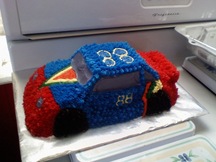 How To Make A Rally Car Birthday Cake