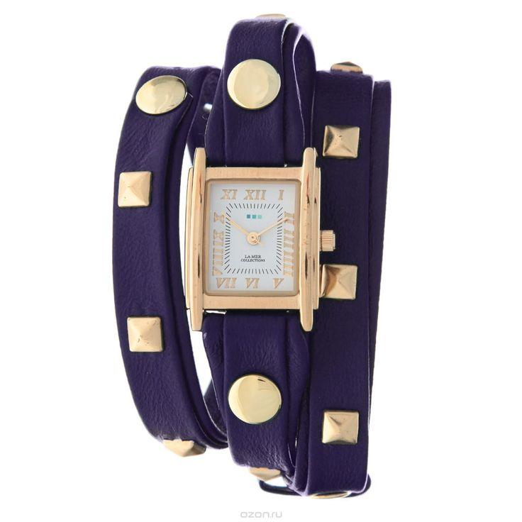 Часы наручные женские La Mer Collections Pyramid Stud Purple. LMLW1010Hx