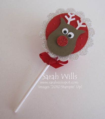 Cute Reindeer using the fabulous Owl Punch (tutorial too)