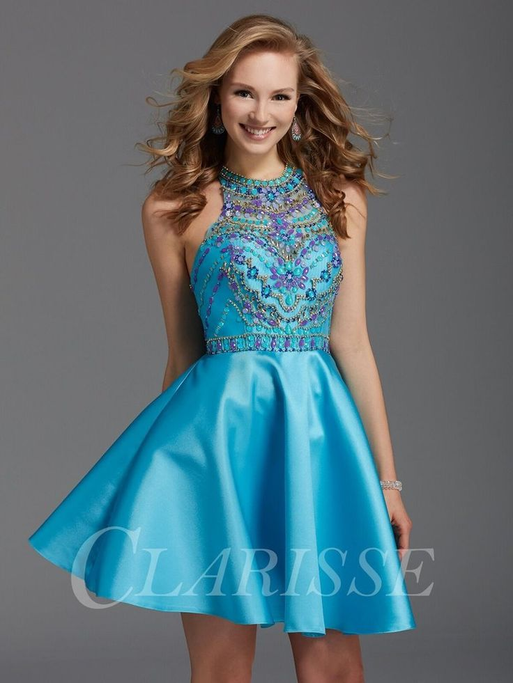 CLARISSE 2913 Turquoise Homecoming Dress