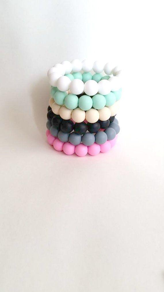 Silicone teething bracelet  Chew bracelet  by ShopSweetpeaandSugar