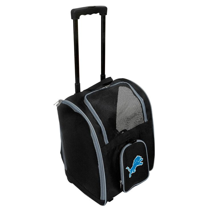 NFL Detroit Lions Premium Pet Carrier with Wheels