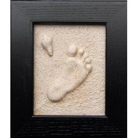 Baby footprint in the sand kit: Kids Stuff, Gifts Ideas, Baby Feet, Baby Gifts, Handfootprint Art, Pression Handprint, Footprint Sands Crafts, Footprint Kits, Baby Stuff