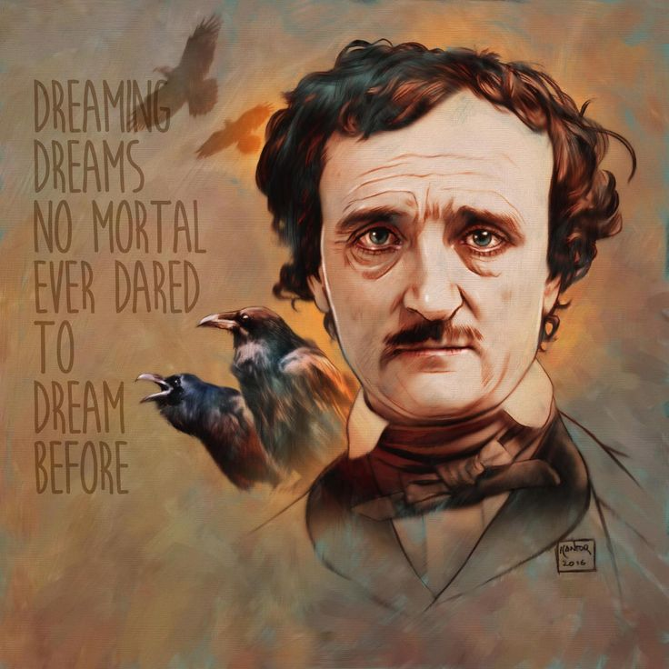 The great Edgar Allan Poe, wow, his poems and stories are so full of great illustration potential! Digitally painted in Photoshop over a scanned black pencil drawing on paper.