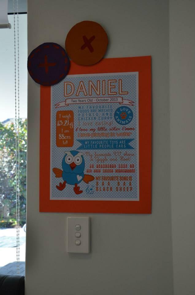Hoot party milestones poster