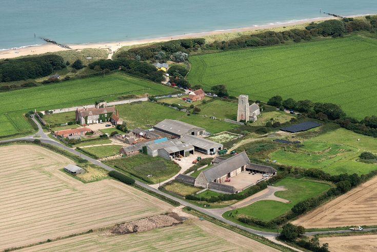 Waxham in North Norfolk - aerial