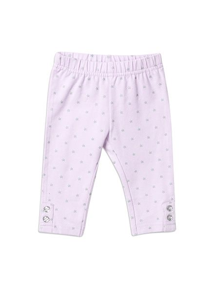 Pumpkin Patch - pants - glitter print leggings - W5BG60010 - lilac - 0-3m to 18-24m