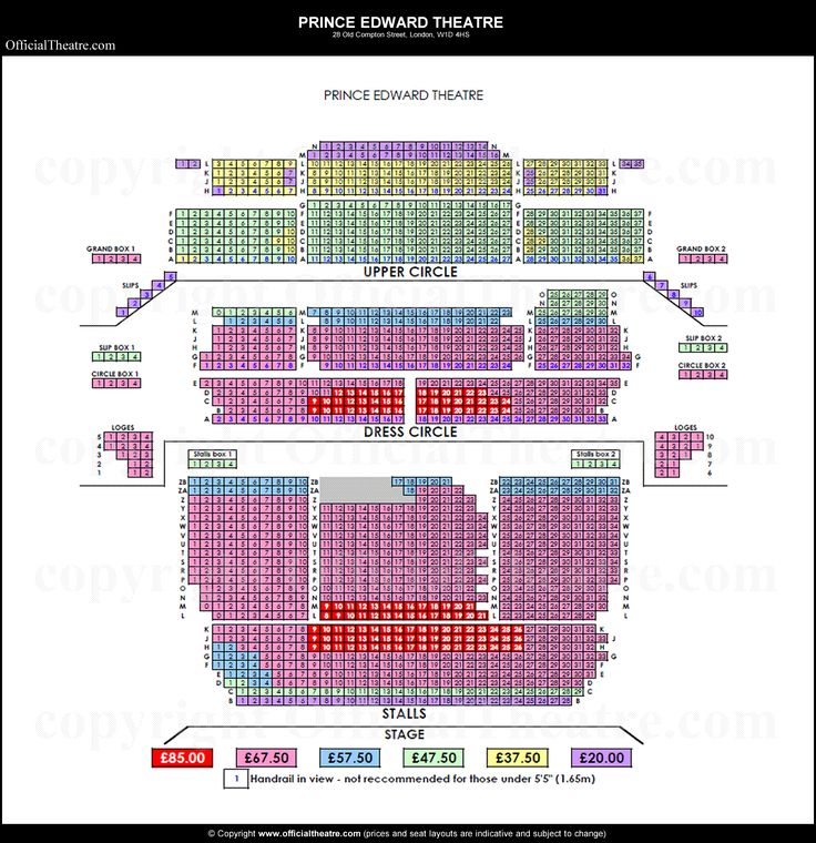 Prince Edward Theatre seat prices
