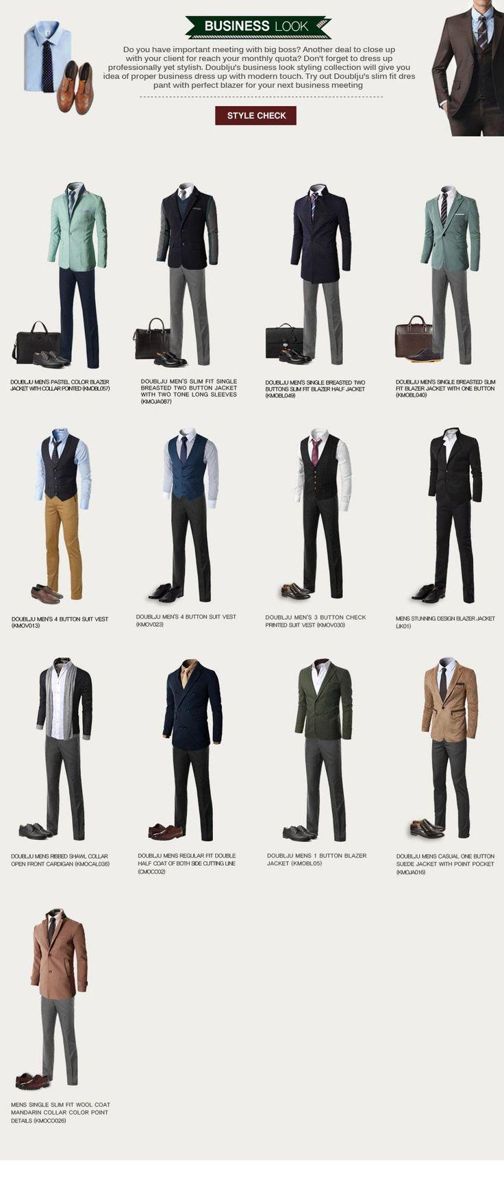 BUSINESS LOOK - DAILY LOOK Doublju #officedesignsformen