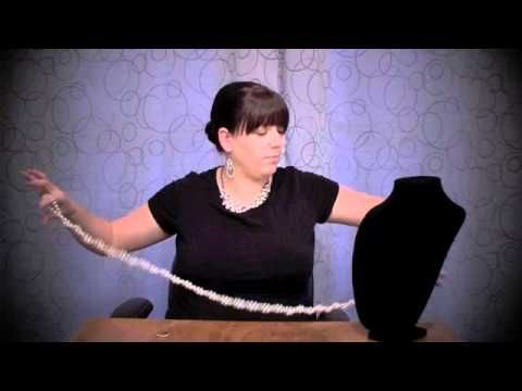 Opening Night Necklace 9 Ways to Wear It! I especially like the crochet and double crochet, 90 inch pearl necklace - instructional video on Youtube