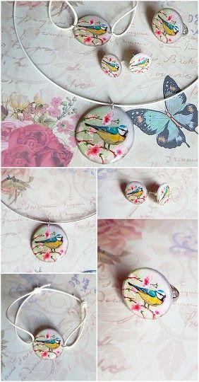 Spring Jewelry Set #rayolabijoux on #etsy