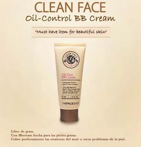 the face shop bb cream oil-free alta cobertura acné coreano