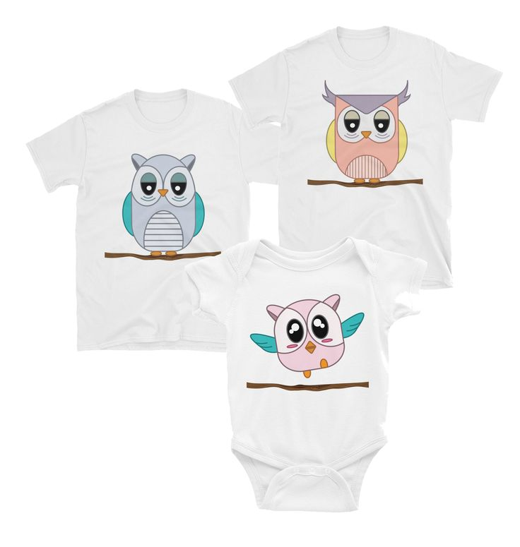 Owl Matching Family T-Shirt and Onesie Set – Winky Shiba Co.