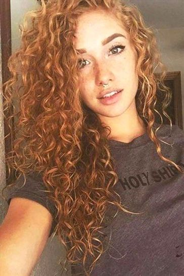 25 Haircuts For Long Curly Hair 6 Side Swept Curly Hairstyle