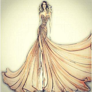 Elie Saab fashion sketch