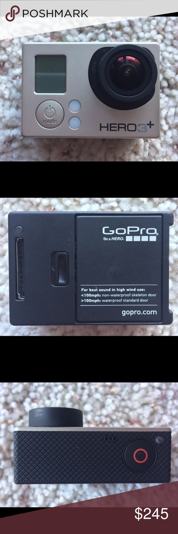 GoPro HERO 3+ Silver Bundle GoPro HERO 3+ Silver Bundle!! Never any problems - Excellent Condition! Bundle includes everything in pictures GoPro Other