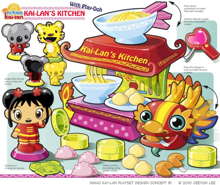 License Toy Project : Kai-Lan's Kitchen by Jeeyun Lee at Coroflot.com