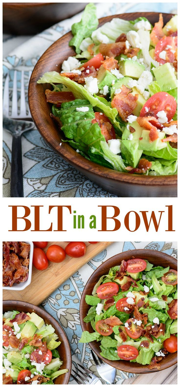 This salad recipe has all the robust flavor of a BLT without the carbs! This paleo, gluten free and low-carb recipe is so delicious, you won't even miss the bread!