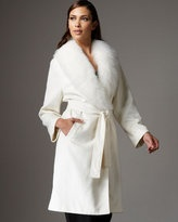Wrap coat with fur lining.  I don't care how bad I'm supposed to feel about it, I freaking love fur coats.