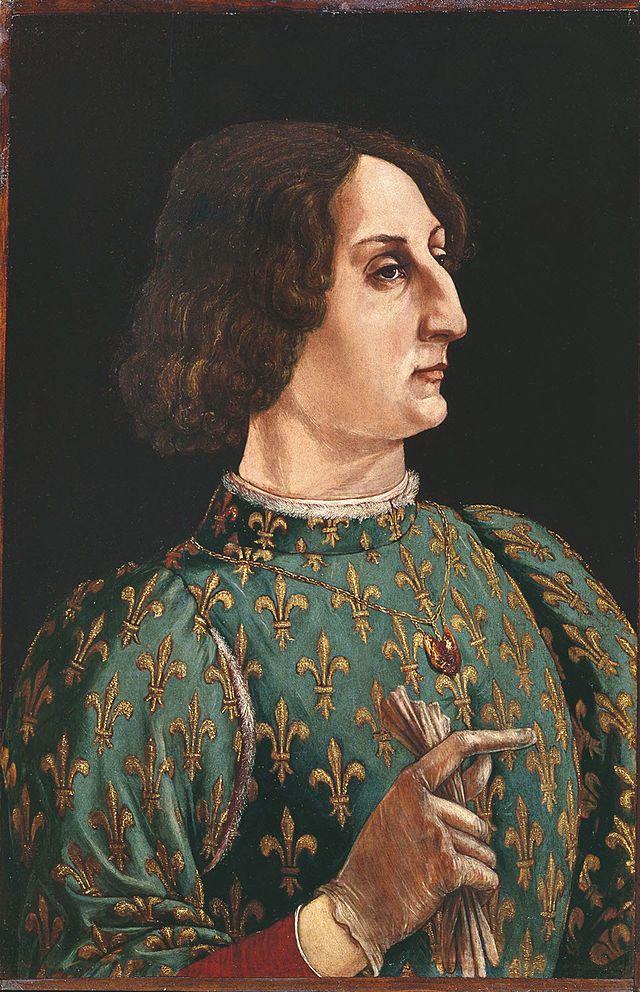 Piero del Pollaiolo, Ritratto di Galeazzo Maria Sforza (1471), Galleria degli Uffizi
