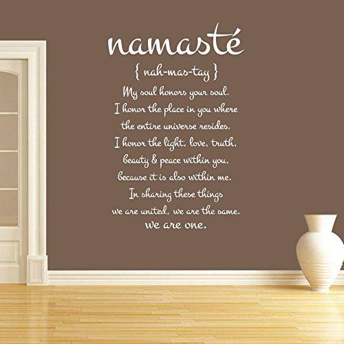 Wall Decal Vinyl Sticker Decals Art Decor Design Quote Lettering Word Symbol Namaste Mandala Yoga Indian Buddha Dorm Office Bedroom (r1348)