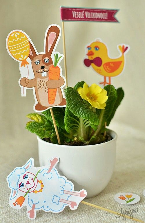 Easter decorations printable by Ajeejee