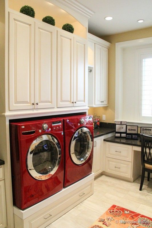 100+ Inspiring Laundry Room Ideas. Red Washer And DryerWasher ... Part 44