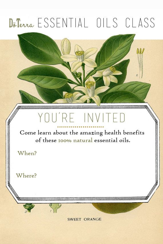 doTerra essential oils class invite by EverythingPudding ...