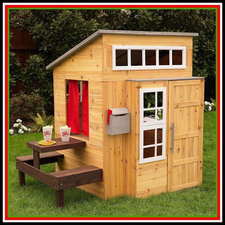 Wooden Playhouse Outdoor Kids Boys Kidkraft Outside Backyard Tiny House Sale  #Kidkraft