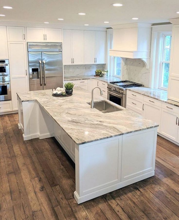 Best 86 A Review Of Beautiful Kitchens White Islands 48 Home 400 x 300