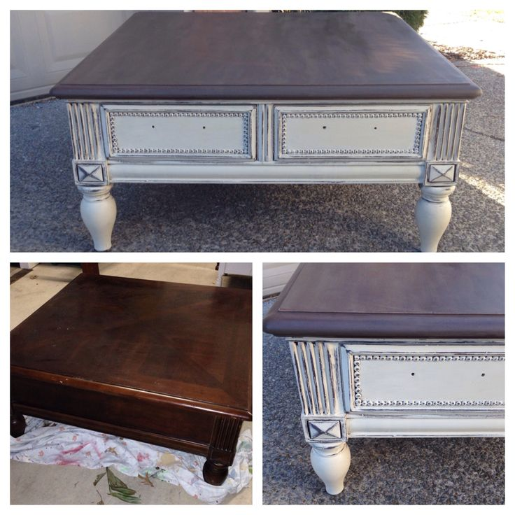 Chalk painted Annie Sloan coffee table