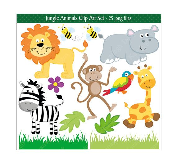 This high quality adorable Jungle Animals clip art set is great for all your craft projects. You could design your own greeting cards, invitations, gift tags, childrens craft projects and lots more.  This Jungle set is supplied as 1 compressed zip file and includes:- 25 .png files with transparent backgrounds 3 digital papers (12 x 12) jpeg files 1 background (12 x 12) jpeg files  All files are high resolution (300dpi) and no watermark will appear on purchased files.  *Instant Download *once…