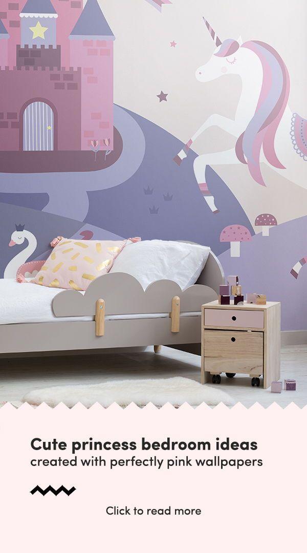 Fairytale Unicorn Wallpaper Muralswallpaper Pink Bedroom