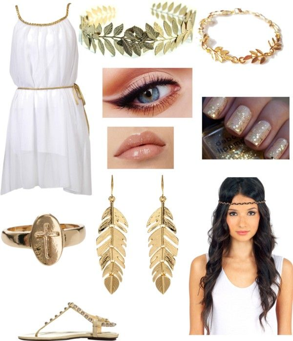 """Greek goddess (Halloween party with Harry)"" by milinda-guerra ❤ liked on Polyvore:"