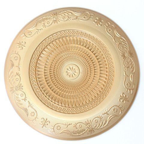Cloud Nine Creative - Large Gold Aztec Plate 29cm