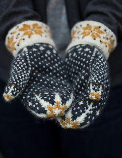 Ravelry: Mīlēt mittens colour work pattern by Ysolda Teague
