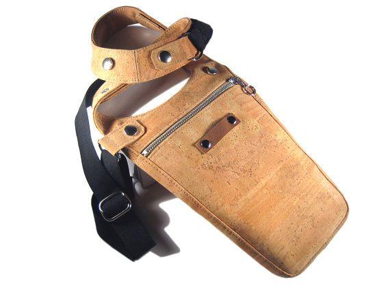 Holster Tasche Kork Männertasche Korkstoff von AnnaBelleBags