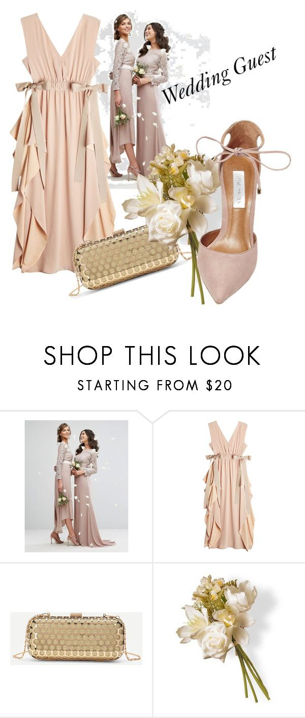 """Wedding Guest"" by oberk ❤ liked on Polyvore featuring TFNC, Fendi, National Tree Company and Steve Madden"
