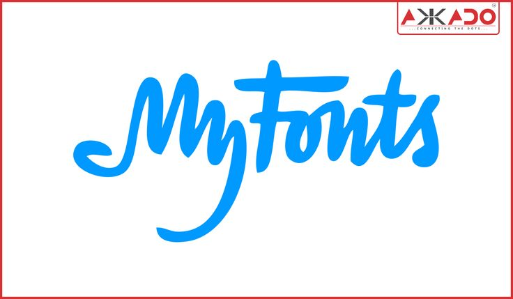 """The """"My"""" part of the wordmark doubles up as a hand! #Akkado #ConnectingtheDots #LogoStory #MyFonts"""