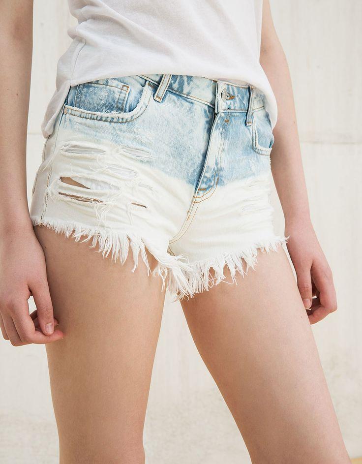 Short en jean «Deep Dye» BSK - Shorts - Bershka France