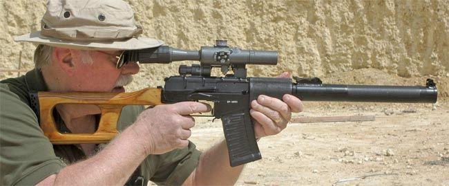 """The VSS """"Vintorez"""" is based on the VIKHR, but the receiver has notable differences and they do not interchange, and the system will not operate for more than one round with the suppressor removed as it was not intended to be fired with the suppressor removed. The system does not use a standard hammer utilizing the tubular striker instead, and has very little in common with a Kalashnikov other than the appearance of some controls."""