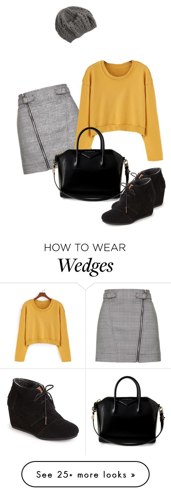 """Untitled #487"" by indirareeves on Polyvore featuring Topshop, Givenchy and TOMS"