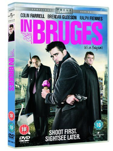 "In Bruges (2008) written and directed by Martin McDonagh, starring Colin Farrell, Ralph Fiennes and Brendan Gleeson. ""Guilt-stricken after a job gone wrong, hitman Ray and his partner await orders from their ruthless boss in Bruges, Belgium, the last place in the world Ray wants to be."""