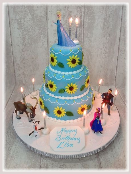 #frozenfever the new Frozen Movie. Anna's Birthday Cake from London's favourite cake maker