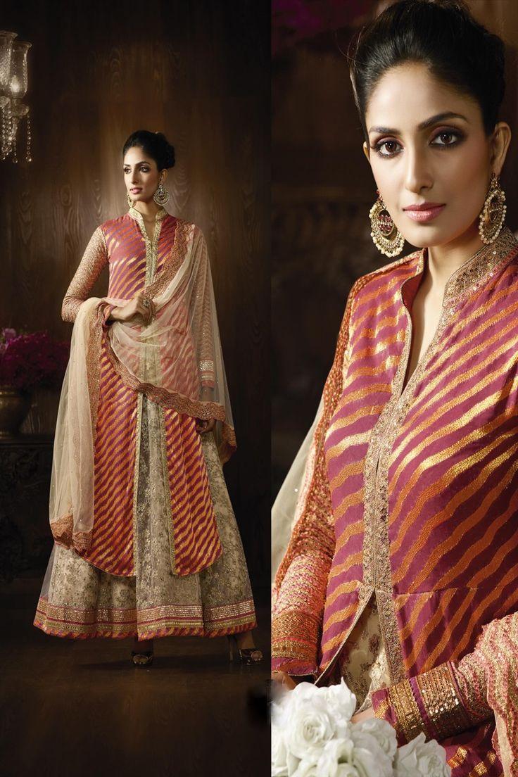 Elegent Pink Designer Anarkali Suit